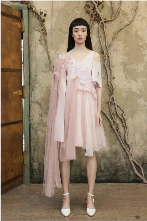 2d3b4948e957 Pastel Nude Pink Off The Shoulder Dress – SHOPMY.WORLD