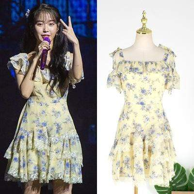 Celeb Style Apparel: Dresses Dress Like IU: Butterfly Floral Dress