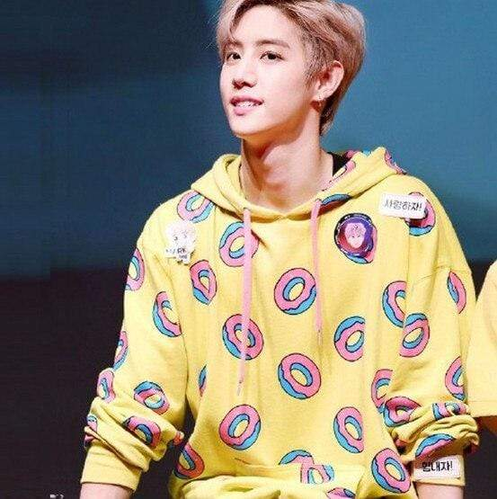 Celeb Style Apparel: Hoodies, Sweatshirts Dress Like Mark: Yellow Donut Hoodie