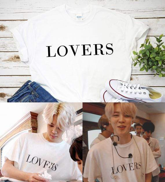 Celeb Style Apparel: T-Shirts, Tops Dress Like Jimin: Lovers T-Shirt