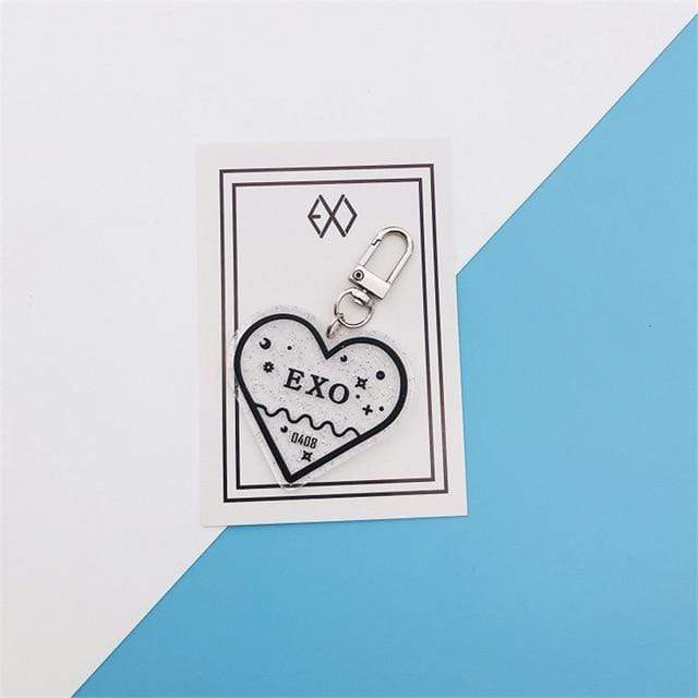 Exo Accessories: Keychains Acrylic Heart Keychain