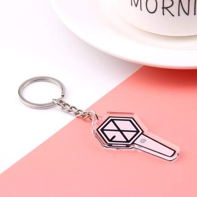 Exo Accessories: Keychains Concert Light Stick Flat Keychain