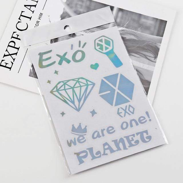 Exo Gift: Cards, Stickers Iridescent Laser Stickers