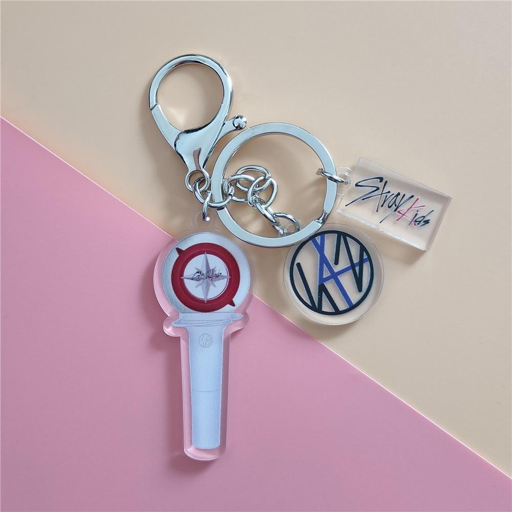 Stray Kids Accessories: Keychains Mini Concert Light Stick Keychain