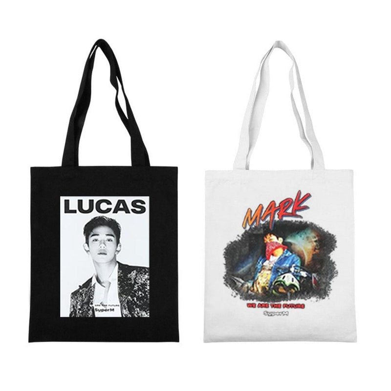 SuperM Accessories: Bags, Backpacks Canvas Tote Bag