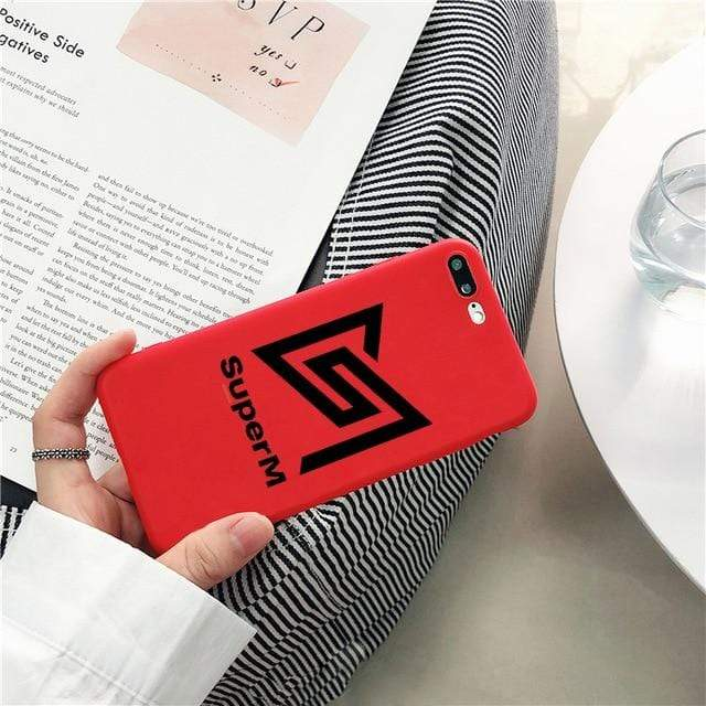 SuperM Accessories: Tech Candy Logo iPhone Case | Red for iphone 6 plus