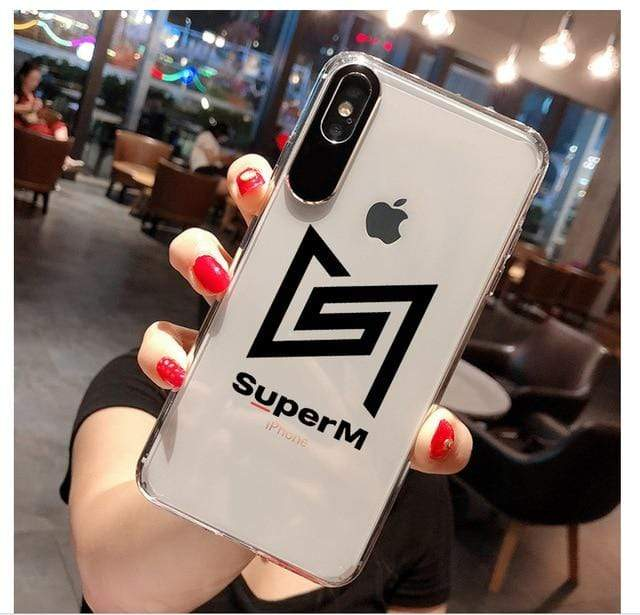 SuperM Accessories: Tech Logo iPhone Case | Transparent for iphone 11