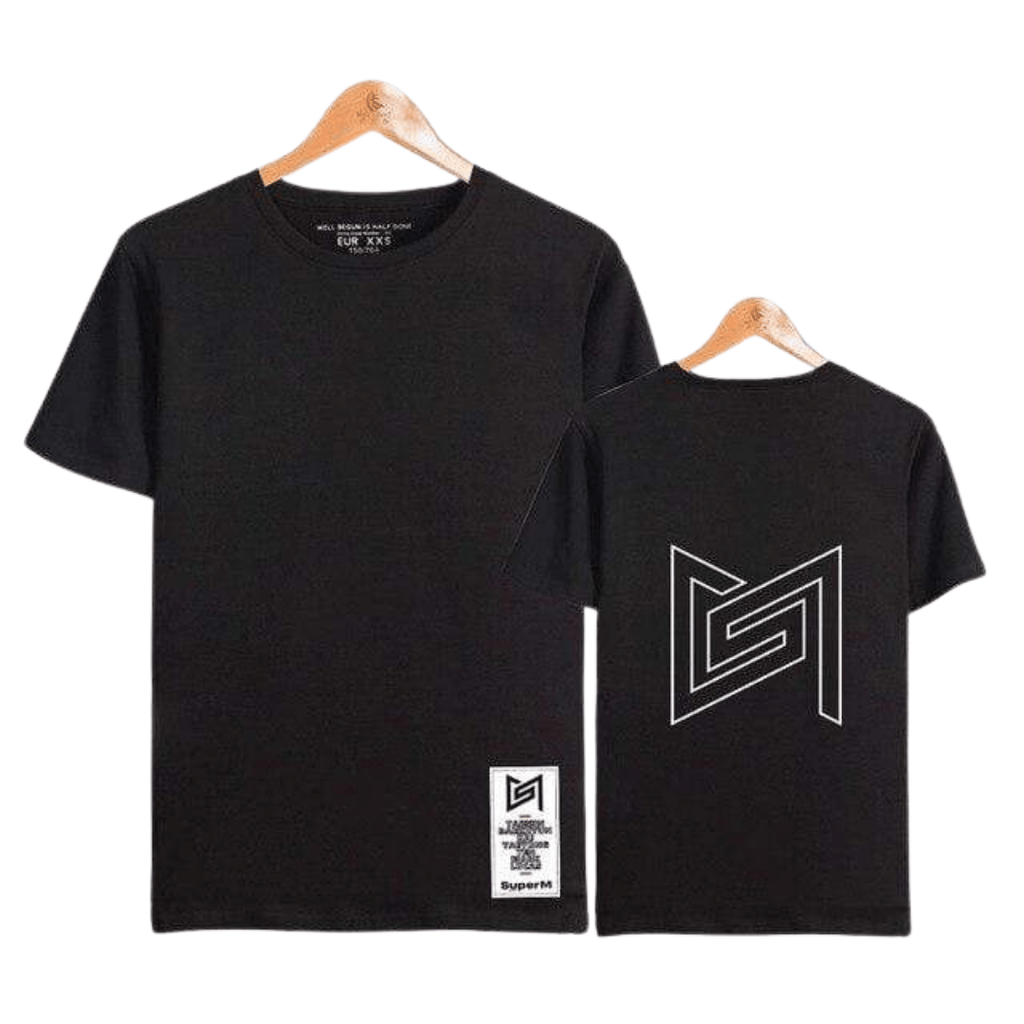 SuperM Apparel: T-Shirts, Tops Back Outline Logo T-Shirt black / XL