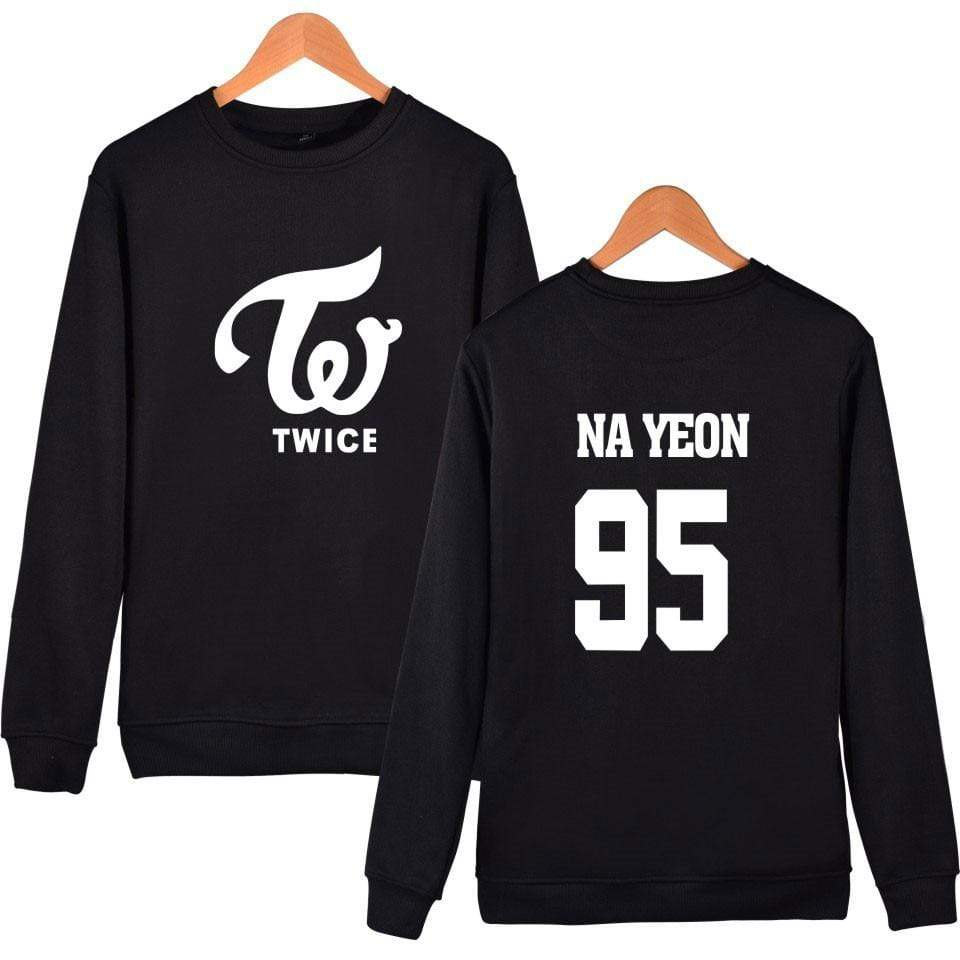 Twice Apparel: Hoodies, Sweatshirts Simple Logo Bias Sweatshirt | Black