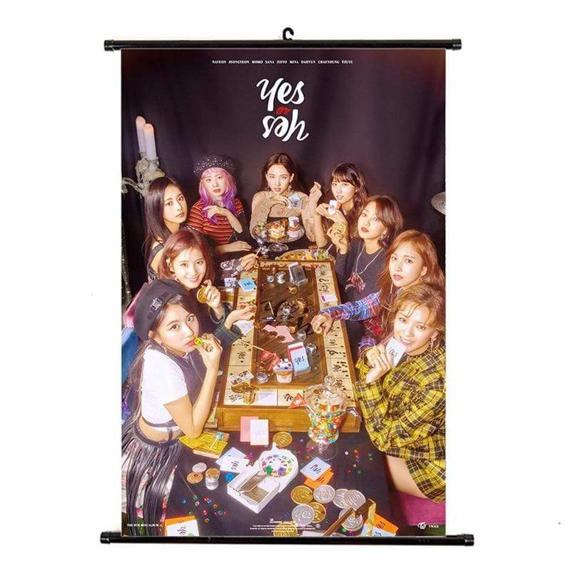 Twice Gift: Posters Yes or Yes Album Wall Scroll Poster