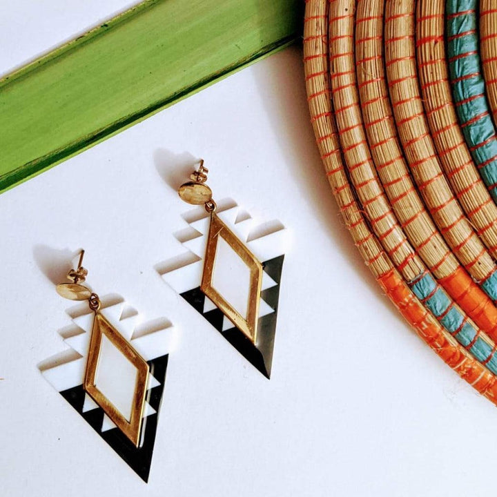 Ndebele Triangle Earrings
