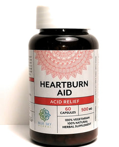 Heartburn Aid- Acid Relief Vegan Capsules to Decrease Bloat, Improve Digestion and Increase Immune Response in the Gut