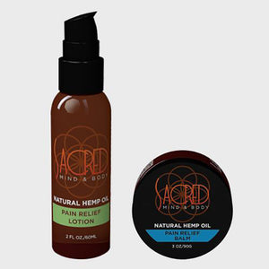 Hemp Sacred / pain balm & pain relief lotion bundle