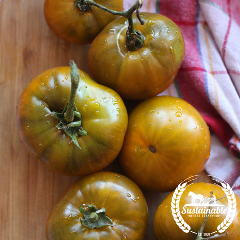 Organic Orange Flesh/Purple Smudge Tomato Seeds -Non-GMO