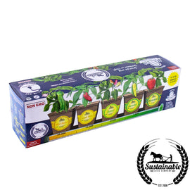 Windowsill Pepper Garden Kit Box