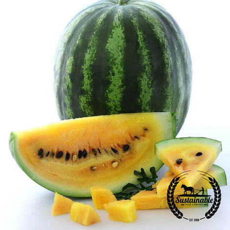 Yellow Crimson Watermelon Seeds - Non-GMO