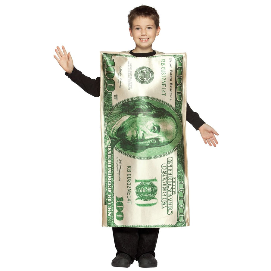 100 Dollar Bill Boys Costume 7-10 - Boys Costumes boys Halloween costume