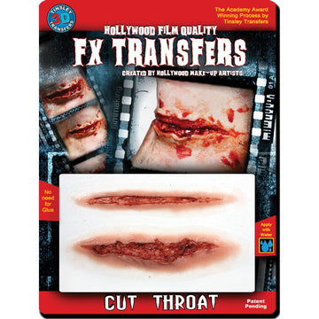 3D Fx Med Cut Throat - Costume Makeup Ghoul Skeleton & Zombie Costume Halloween