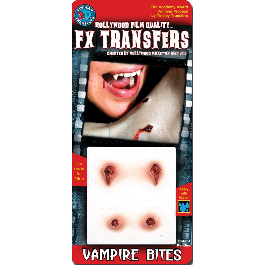3D Fx Sm Vampire Bites - Costume Makeup Ghoul Skeleton & Zombie Costume Gothic &