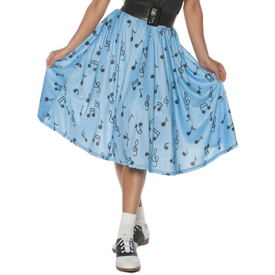 50s Musical Note Skirt Womens Costume Lg - 50s Costume adult halloween costumes