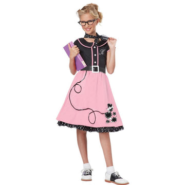50s Sweetheart Kids Costume Large 10-12 - 50s Costume Girls Costumes girls