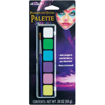 6 Pastel Pearlescent Water Colors Makeup - Costume Makeup New Costume