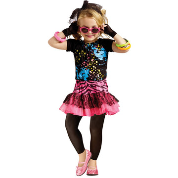 80s Pop Party Toddler Costume 3T-4T - 80s Costume 80s Halloween Costume Toddler