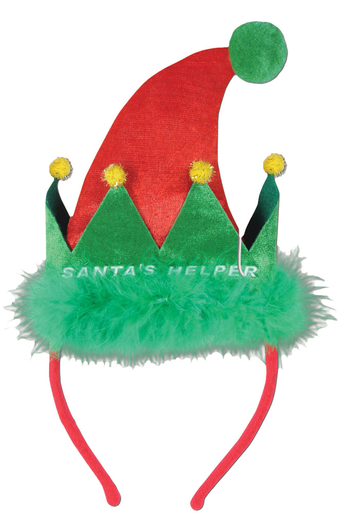 Halloween Costumes, Holiday Costumes, Santa Helper Headband, Wigs & Hair Costume