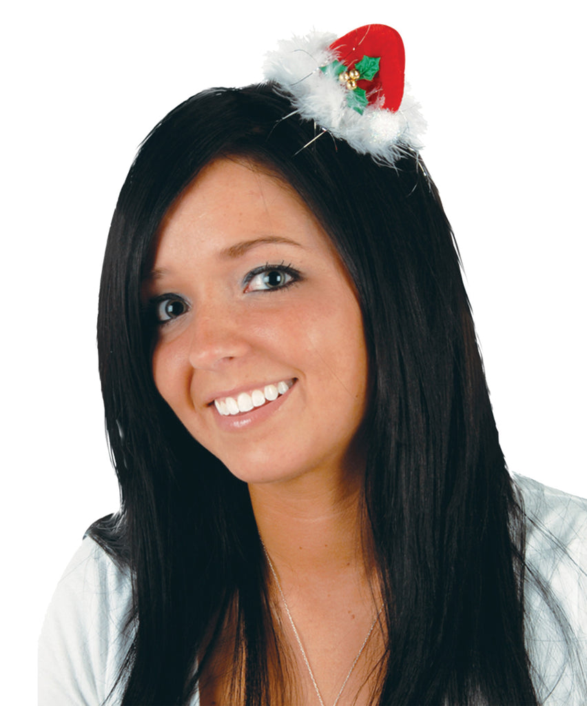 Halloween Costumes, Holiday Costumes, Santa Hat Hair Clip, Wigs & Hair Costume