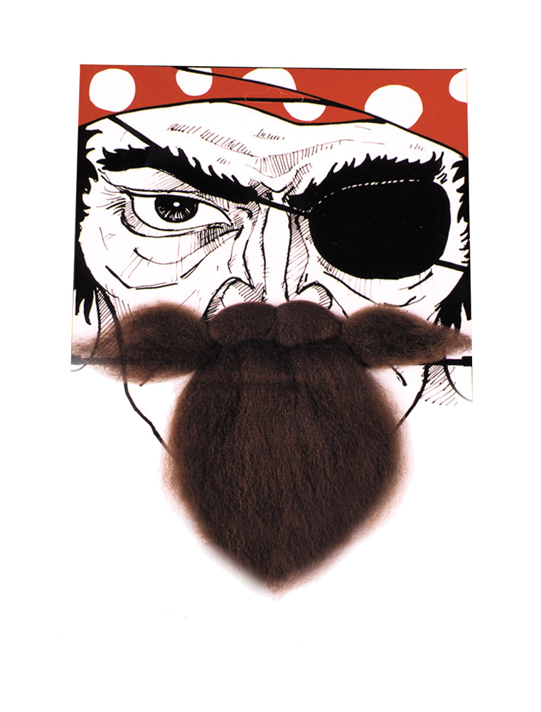 Pirate Costume, Mustache & Beards Costume, Nautical Beard Brown, Halloween Costumes