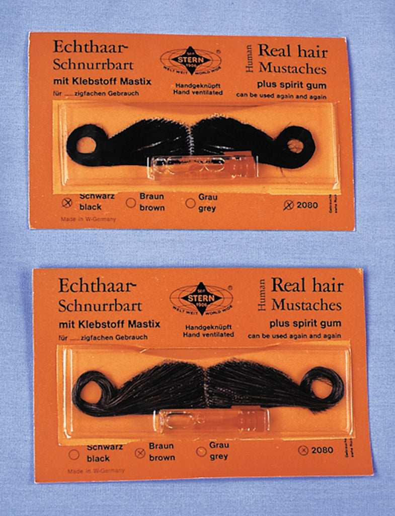 Halloween Costumes, Mustache & Beards Costume, Mustache Real Hair Amer Brn