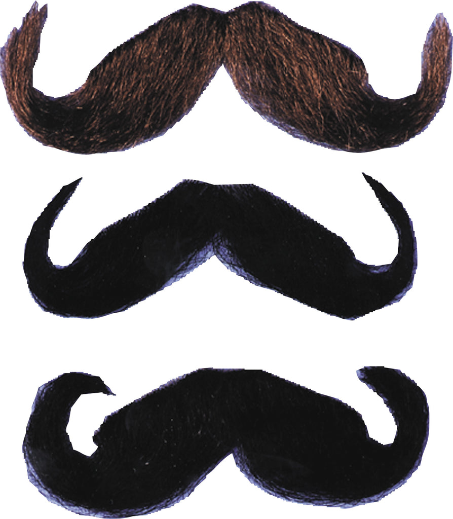 Halloween Costumes, Mustache & Beards Costume, Mustache 20s Style Black