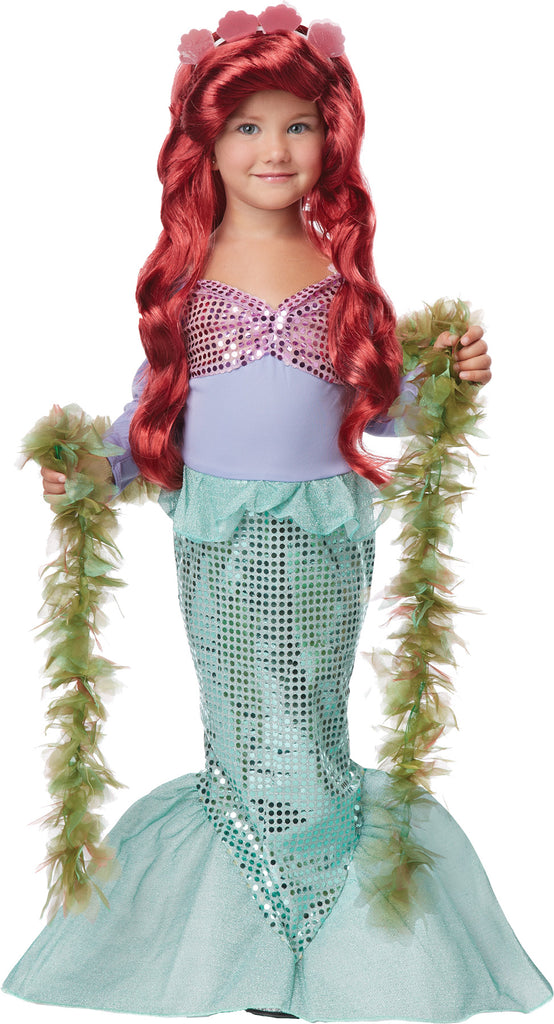 Disney Costume, Royalty & Princess Costume, Fairytale Costume, Wigs & Hair Costume, Girl's Costumes, Little Mermaid Kids Costume XSmall 4-6, Halloween Costumes