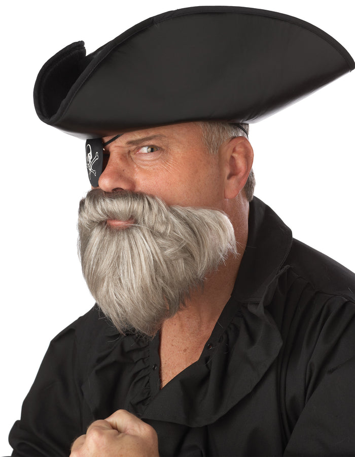 Capt Beard-Stache Grey, Halloween Costumes, Mustache & Beards Costume, Pirate Costume