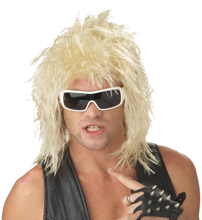 80's Costume, Dude Rockin Blonde Adult Wig, Halloween Costumes, Wigs & Hair Costume