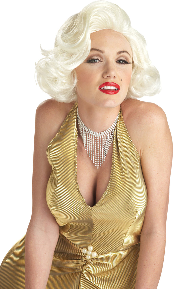 50's Costume, Celebrity Costume, Halloween Costumes, Marilyn Classic Blonde Adult Wig, Wigs & Hair Costume