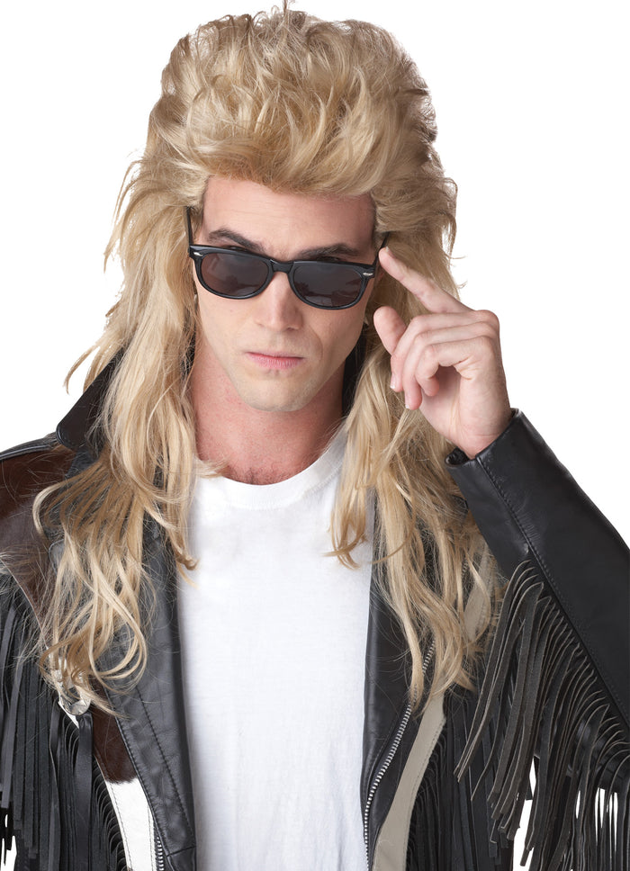 80's Costume, 80s Rock Mullet Blonde Adult Wig, Halloween Costumes, Wigs & Hair Costume