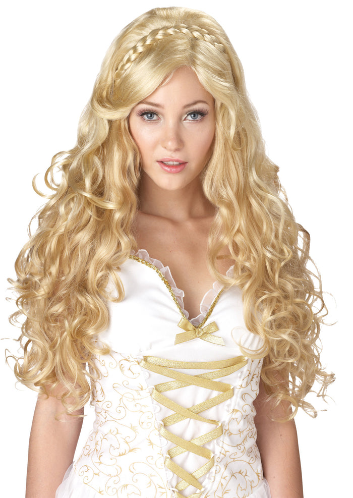 Greek & Roman Costume, Halloween Costumes, Mythic Goddess Blonde Adult Wig, Wigs & Hair Costume