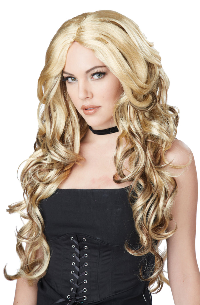 Celebrity Glam Blonde-Brown Wig, Halloween Costumes, Wigs & Hair Costume