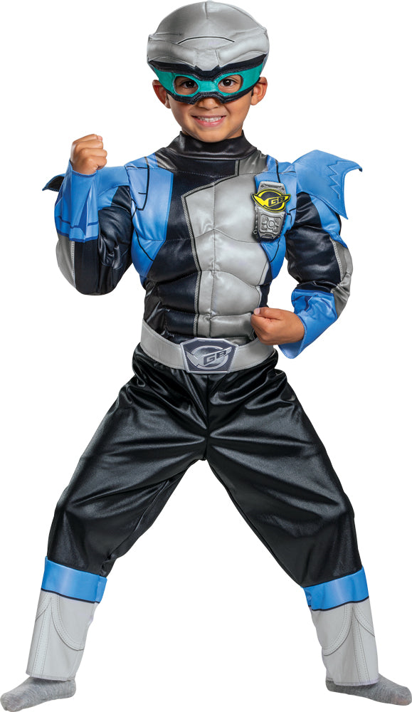 Beast Morphers Silver Ranger Muscle Toddler Costume 3-4T