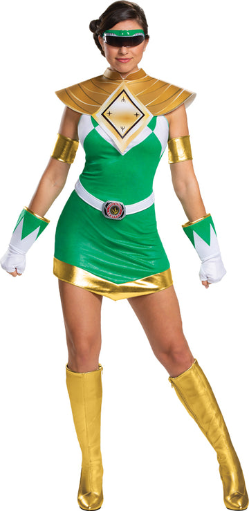 Mighty Morphin Green Ranger Deluxe Womens Costume Lg