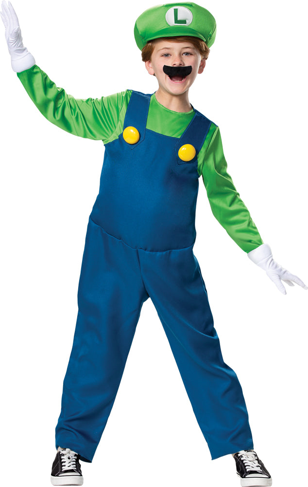 Luigi Deluxe Boys Costume Md