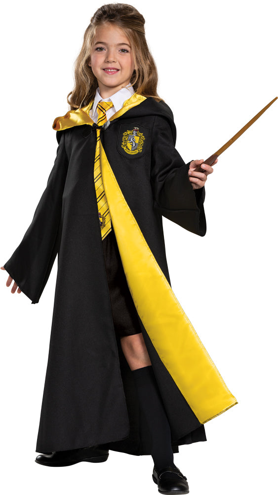 Harry Potter Hufflepuff Robe Kids Deluxe Costume Lg