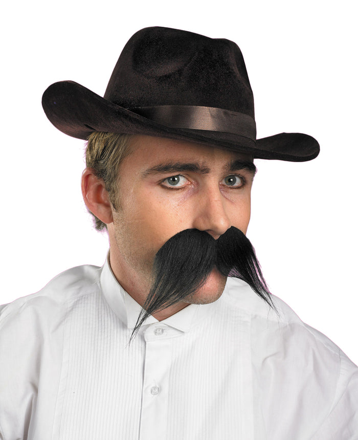 Wild West & Cowboy Costume, Mustache & Beards Costume, Gambler Moustache, Halloween Costumes