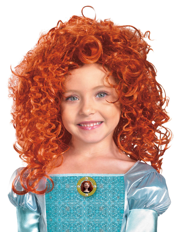Brave-Merida Child Wig, Disney Costume, Halloween Costumes, Royalty & Princess Costume, Wigs & Hair Costume