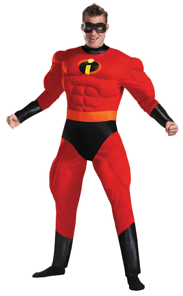 Disney Costume, Halloween Costumes, Men's Costumes, Mr Halloween Costume, Mr Incredible Muscle Adult