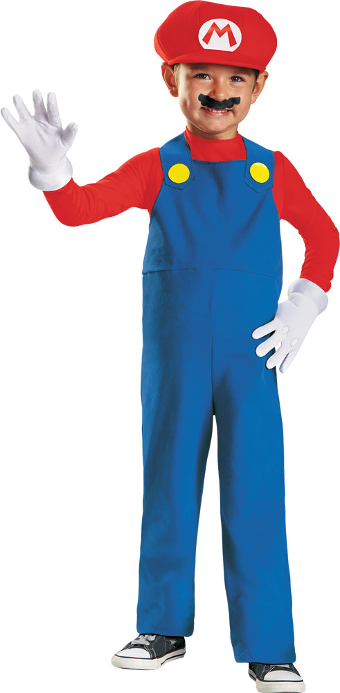 Mario Brothers Costume, Game Costume, Toddler Costumes, Mario Toddler Costume 3T-4T, Halloween Costumes