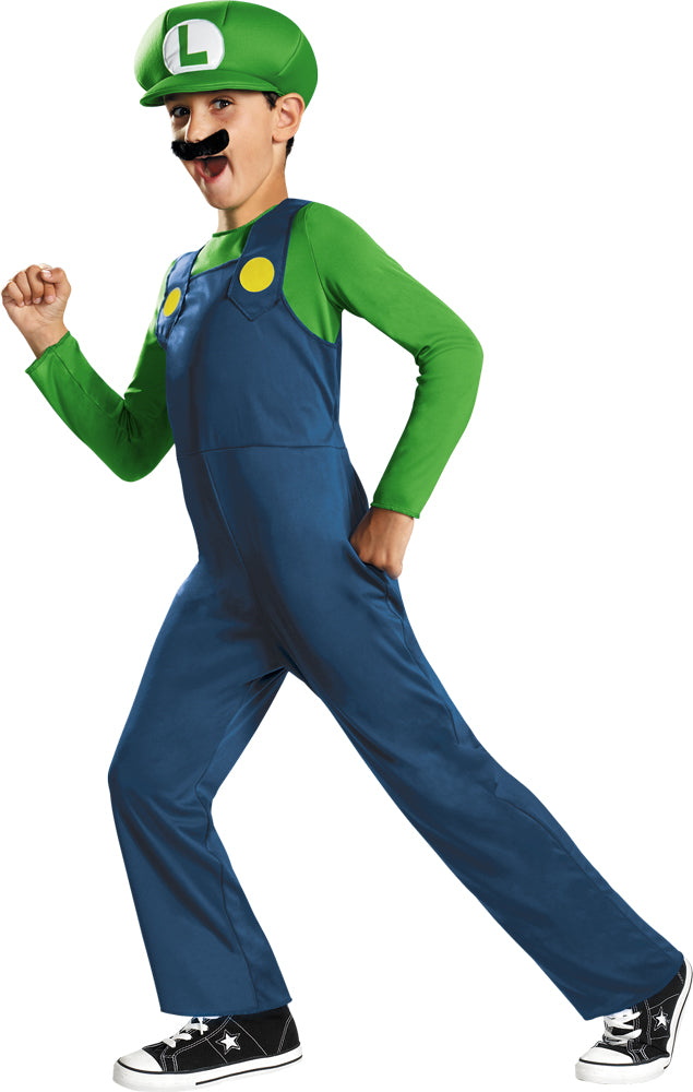Mario Brothers Costume, Game Costume, Boy's Costumes, Luigi Classic Boys Costume Small 4-6, Halloween Costumes
