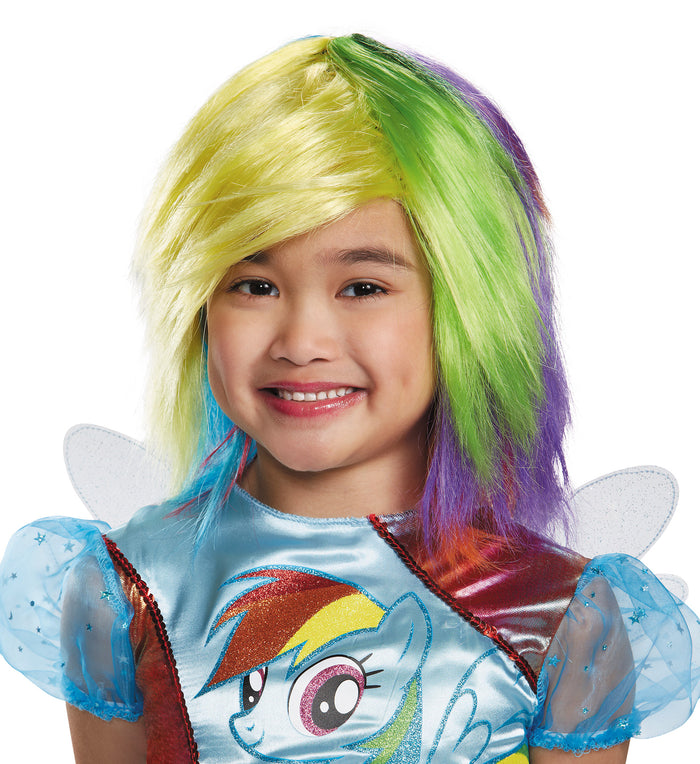Halloween Costumes, My Little Pony Costume, Rainbow Dash Child Wig, Wigs & Hair Costume