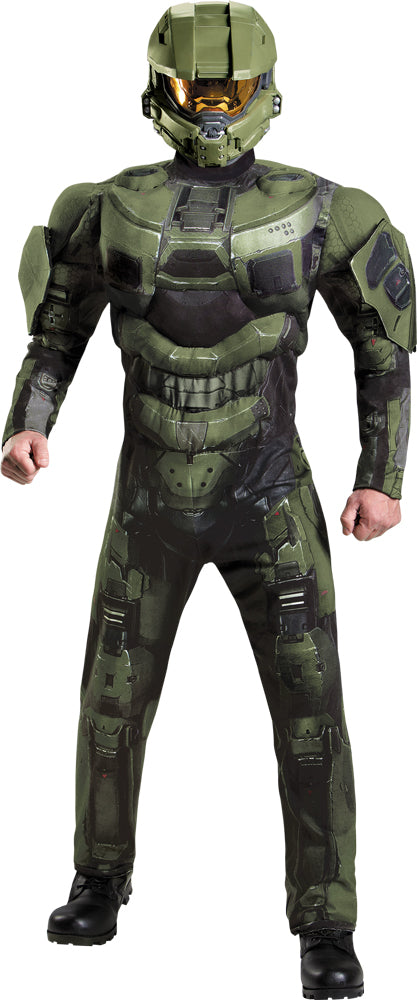 Master Chief Deluxe Muscle Mens Costume Teen